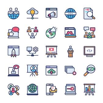 Pack d'icônes de marketing internet
