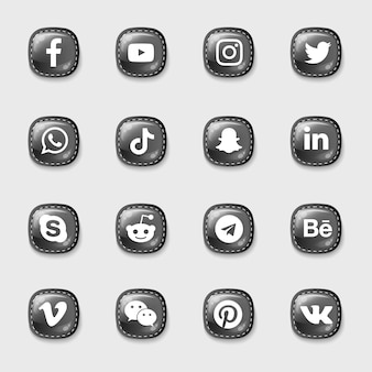 Pack d'icônes de médias sociaux
