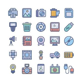 Pack d'icônes de la photographie