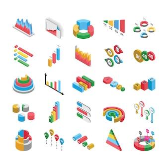 Pack d'icônes plat de conceptions graphiques