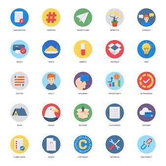 Pack d'icônes plat de croissance financière