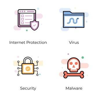 Pack d'icônes plat sécurité