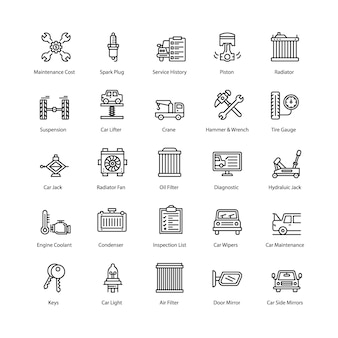 Pack d'icônes de service de voiture