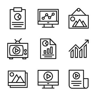 Pack d'icônes de statistiques commerciales