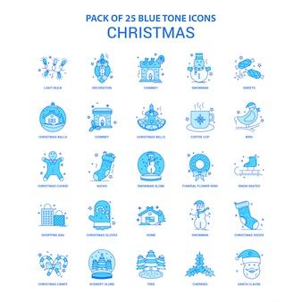 Pack d'icônes de ton bleu de noël