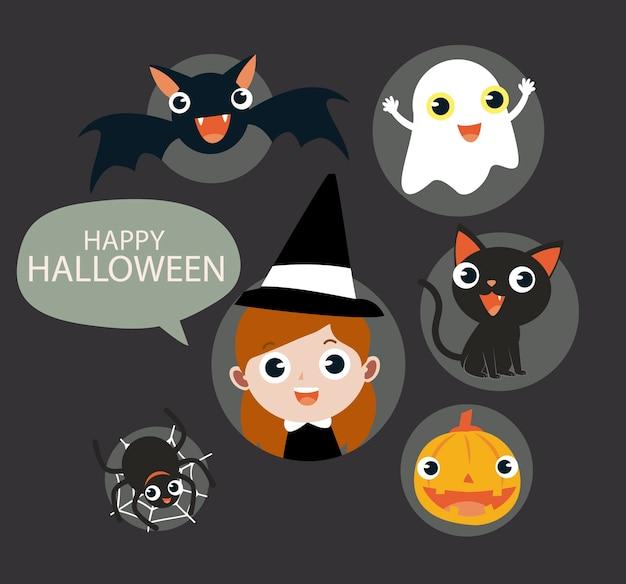 Pack d'icônes vectorielles halloween