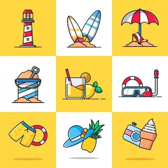 Pack d'illustrations d'été