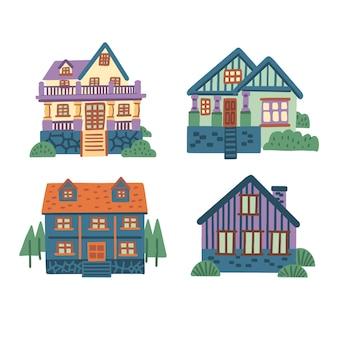 Pack d'illustrations de maison