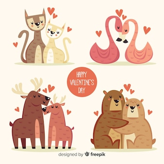 Pack d'illustrations mignon saint valentin