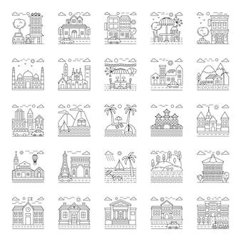 Pack illustrations plage