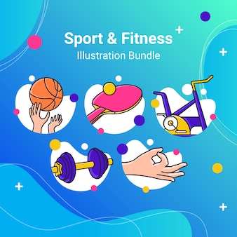 Pack d'illustrations sport fitness