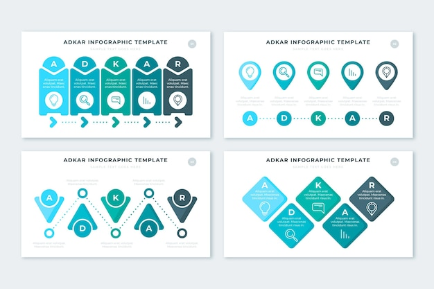 Pack d'infographie adkar