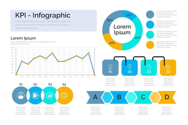 Pack d'infographie kpi