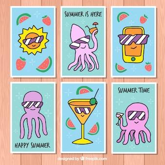 Pack de jolies cartes d'été