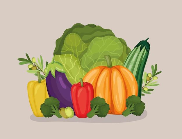 Pack de légumes sains