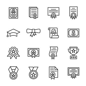 Pack de ligne de certificats et diplômes