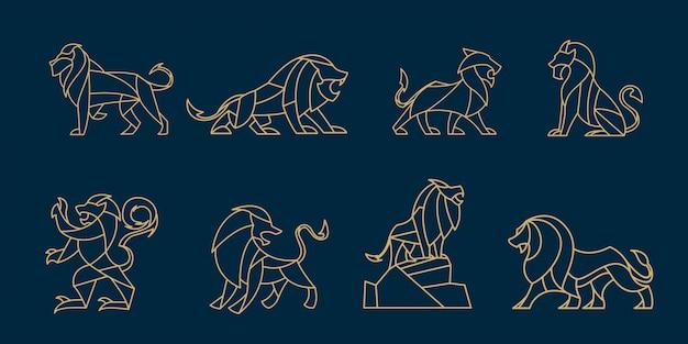 Pack de lion polygonal
