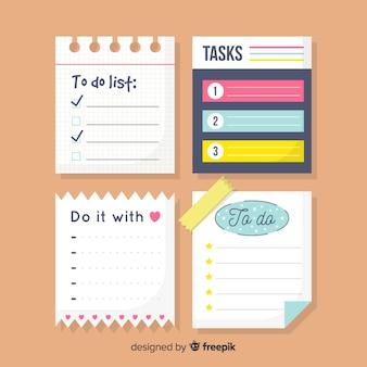 Pack de listes colorées à faire
