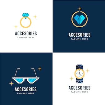 Pack de logo d'accessoires de mode plat