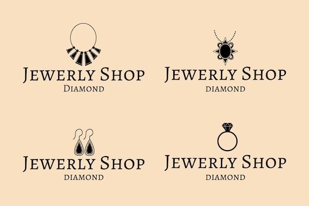 Pack de logo de bijoux dessinés à la main