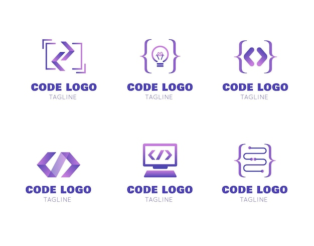 Pack de logo de code moderne