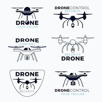 Pack de logo de drone design plat