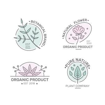 Pack de logo d'entreprise naturel dans un style minimal