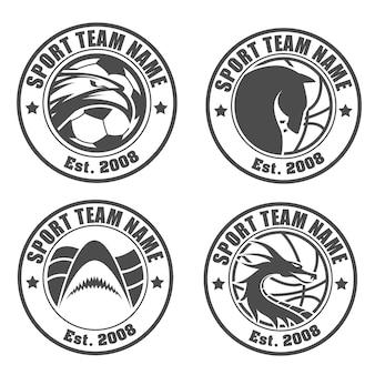 Pack logo de l'équipe sportive