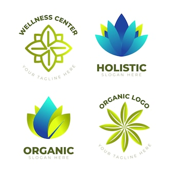 Pack de logo holistique dégradé