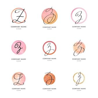 Pack de logo lettre z peint à la main