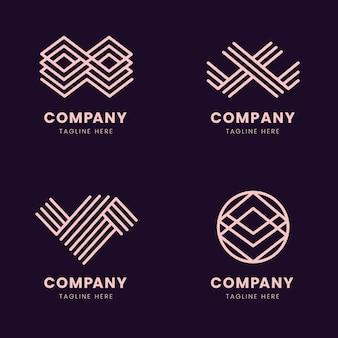Pack de logo linéaire abstrait