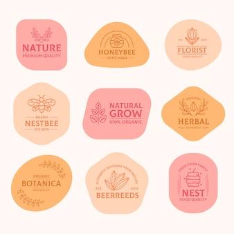 Pack logo minimal avec des couleurs pastel