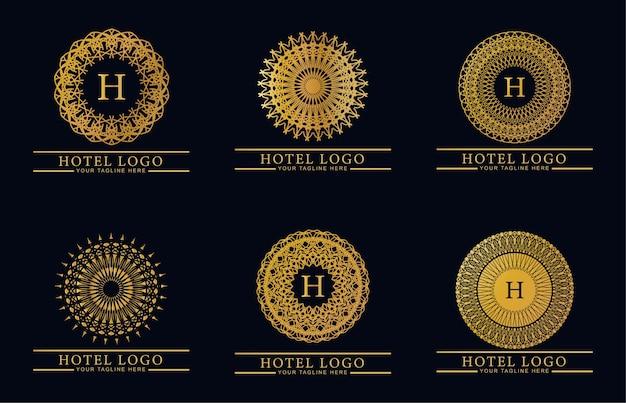 Pack logo monogramme luxe et élégant