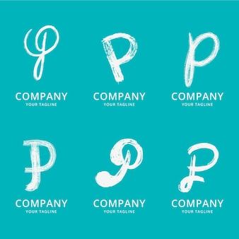 Pack de logo p peint à la main