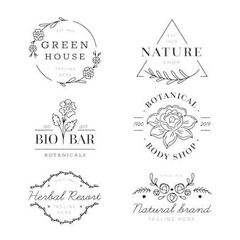Pack de logo pour les affaires naturelles