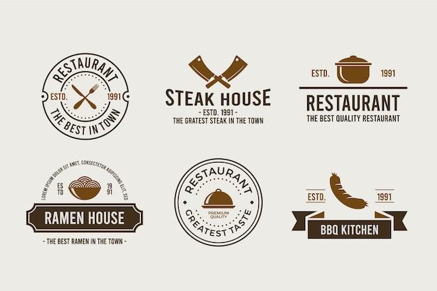 Pack logo restaurant rétro
