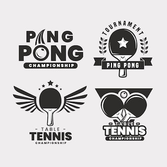 Pack logo tennis de table