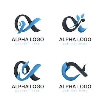 Pack de logos alpha dégradé