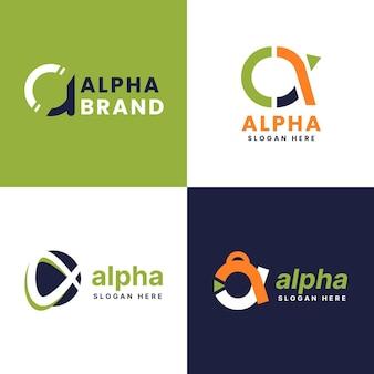 Pack de logos alpha design plat