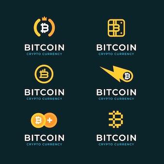 Pack de logos bitcoin design plat