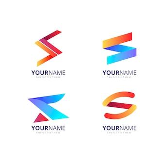 Pack de logos de design coloré dégradé