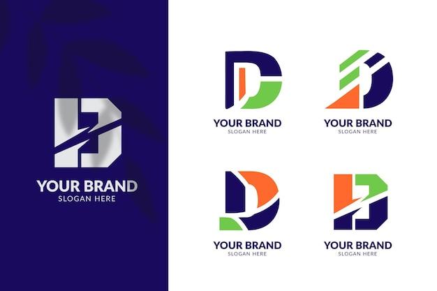 Pack de logos différents design plat