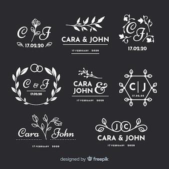 Pack de logos de fleuriste de mariage