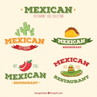 Pack de logos de restaurants mexicains