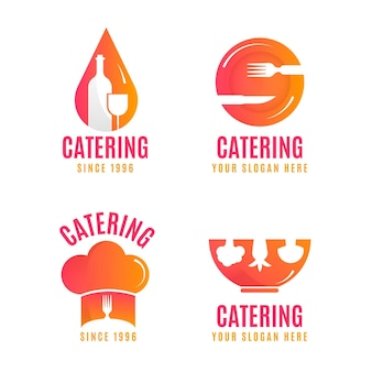 Pack de logos de restauration dégradés