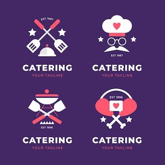 Pack de logos de restauration design plat