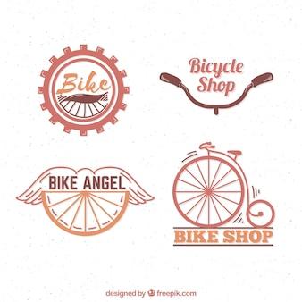 Pack de logos de vélo rétro