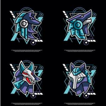 Pack de loup à géométrie sacrée