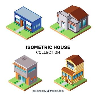 Pack de maison isométrique
