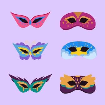 Pack de masques de carnaval vénitien 2d